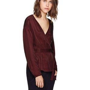 WILFRED ANEMONE WRAPPED LONG-SLEEVE BLOUSE